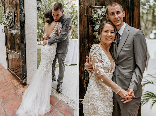Bride and Groom hugging after First Look The Manor on St Lucie Crescent Wedding captured by Stuart Wedding Photographer Heather Houghton Photography