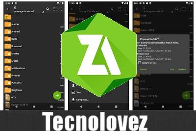 ZArchiver - Applicazione per aprrei e creare file ZIP, RAR e 7zip sul tuo cellulare