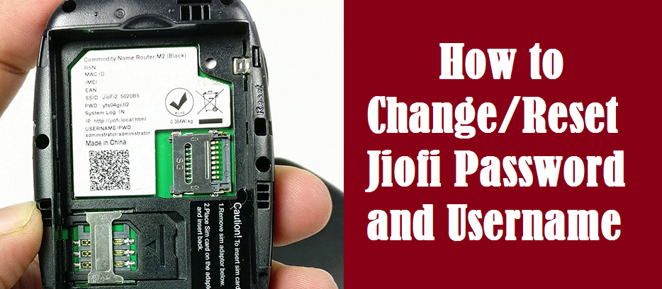 How to Change/Reset Jiofi Password and Username