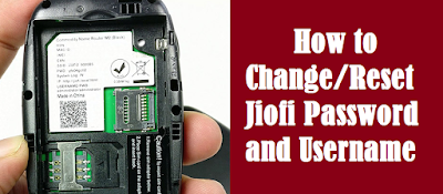 Jiofi Password Change