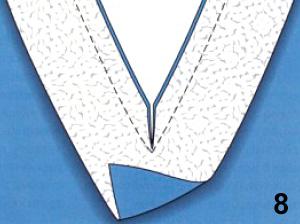 Обработка горловины и пройм изделия обтачкой