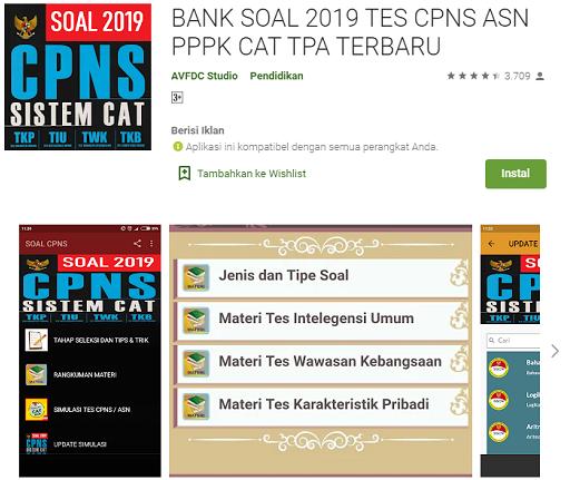 Bank soal 2019 tes CPNS ASN pppk terbaru