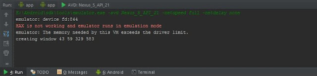 Mengatasi Masalah HAX is not Working (Not Running) Di Android Studio