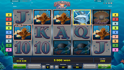 play dolphin's pearl slot game