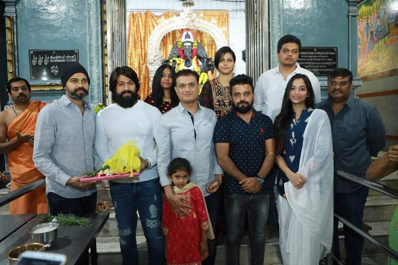Yash, Prashanth Neel, Shrinidhi Shetty at KGF Chapter 2 Mahurat