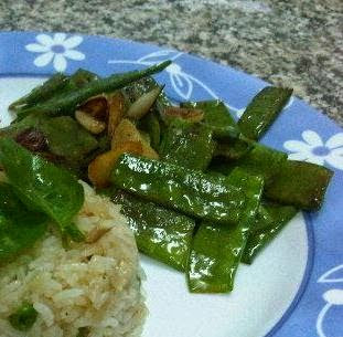 quick stir fried snow peas