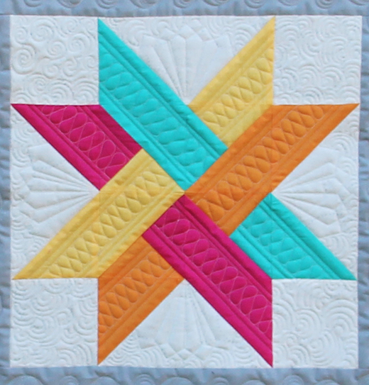 The Merope Star Block designed by Gina Perkes of The Copper Needle for the National Quilters Circle Quilt Block Challenge