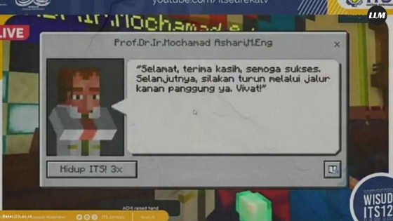 Wisuda Pakai Minecraft, Institut Teknologi Sepuluh Nopember Emang Beda