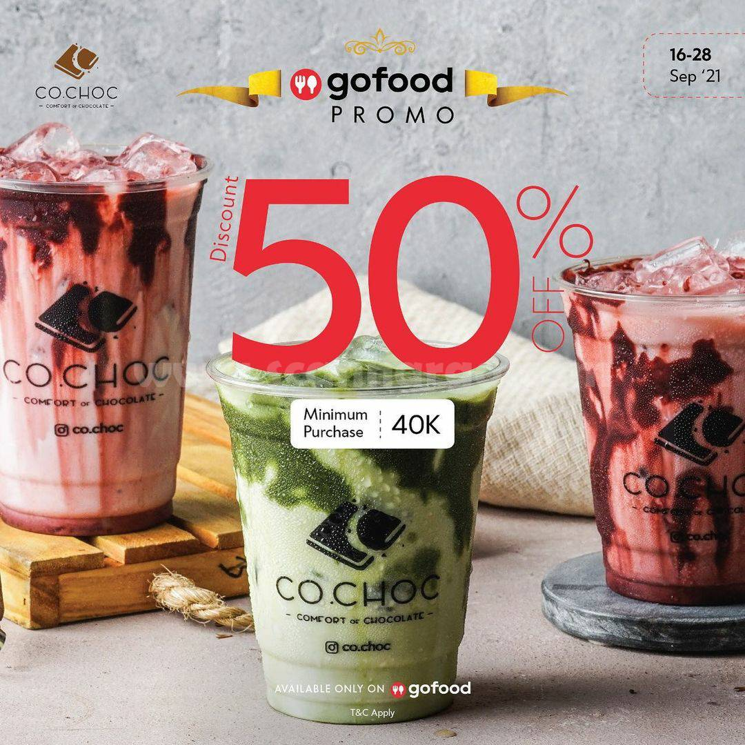 Promo CO.CHOC DISKON hingga 50% via GOFOOD