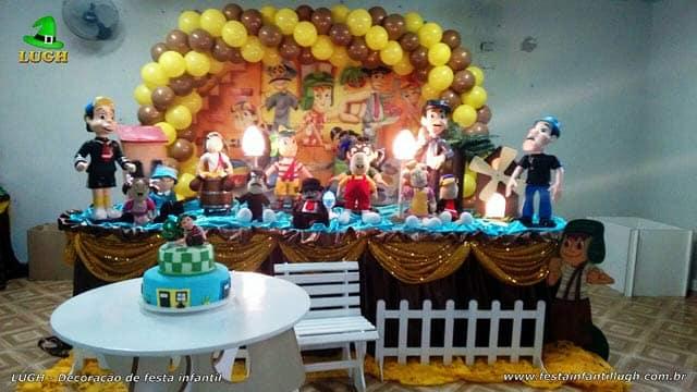Decoração tema Chaves para festa de aniversário