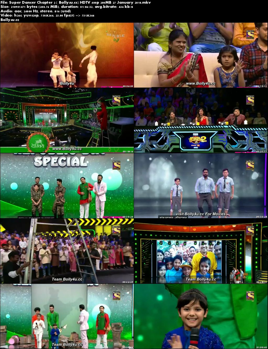 Super Dancer Chapter 2 HDTV 480p 200MB 27 January 2018 Download