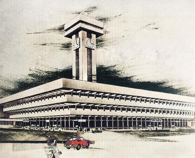 Phối cảnh mô hình đồ án chợ Bến Thành của kiến trúc sư Huỳnh Kim Mãng