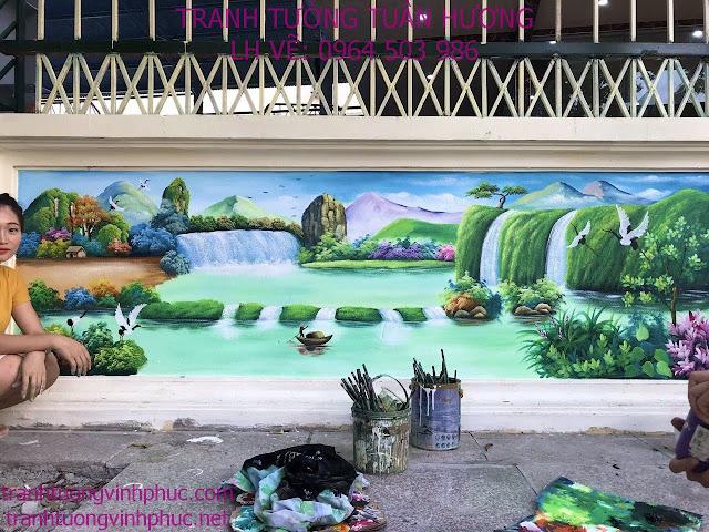 vẽ tranh 3d tại hải lựu sông lô vĩnh phúc