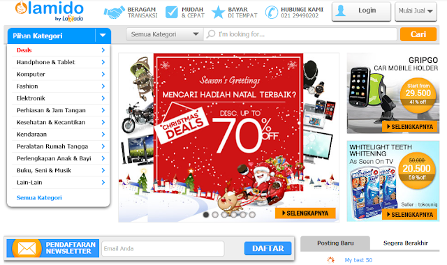 Belanja Online Sambil Jualan Di Lamido.co.id
