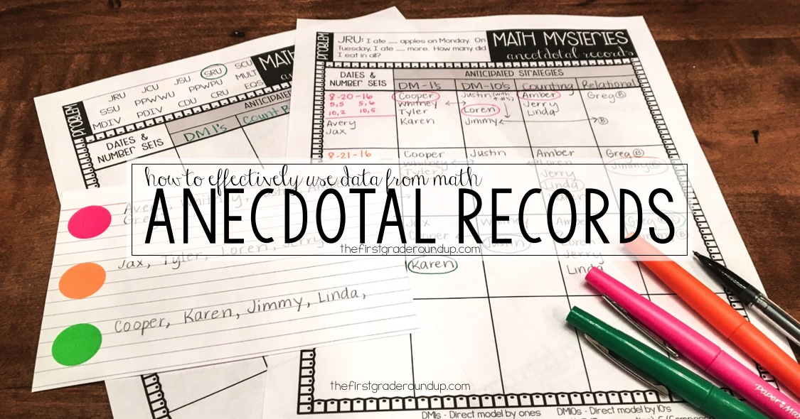 how to write anecdotal report
