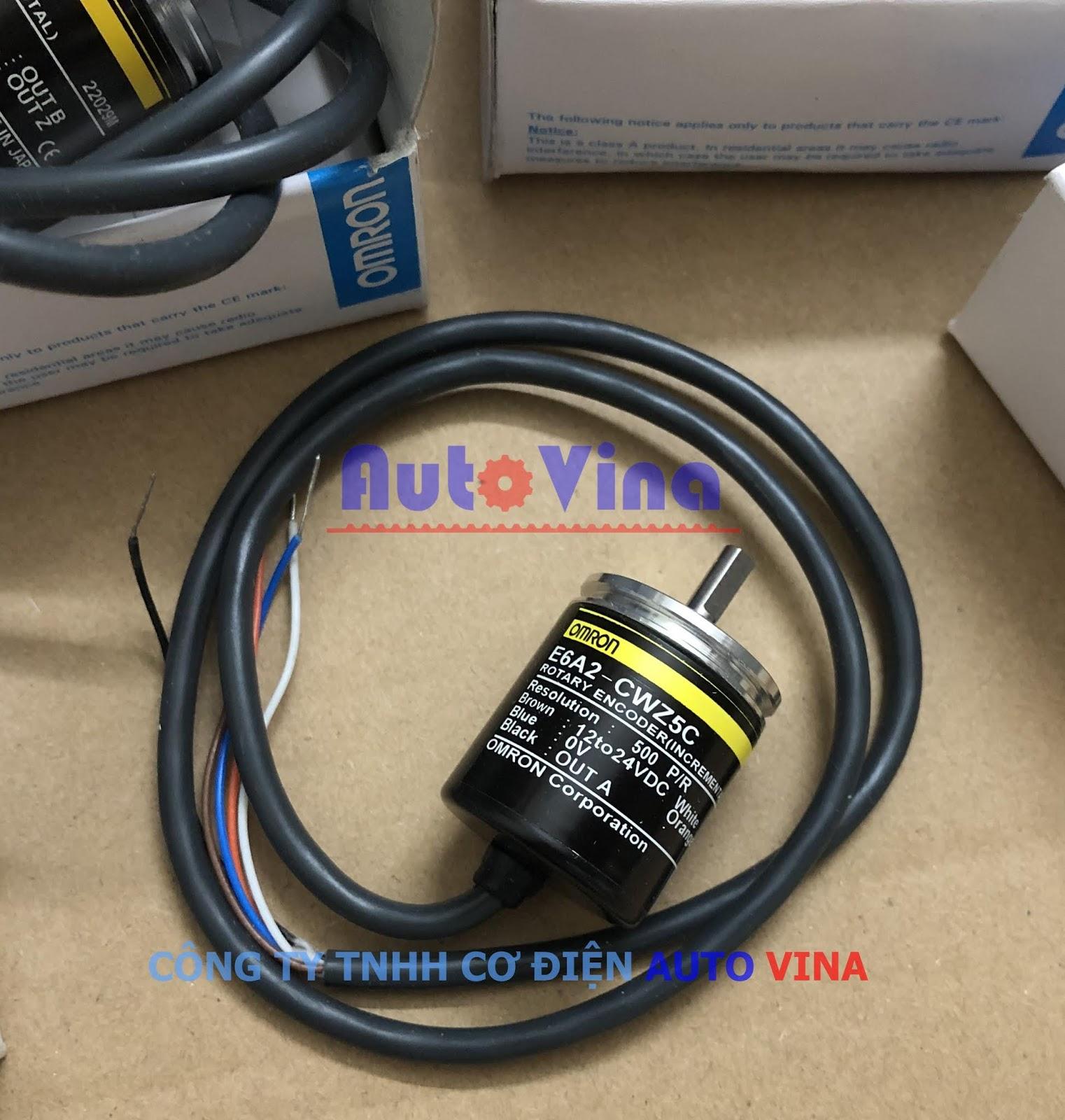 Đại lý bán Encoder Omron E6A2-CW5C 500 xung, nguồn cấp 12~24VDC