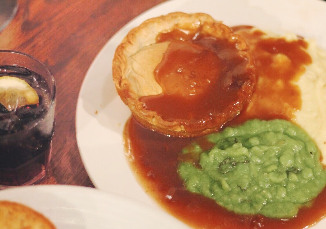 Baltic social in liverpool new menu: Scouse pie