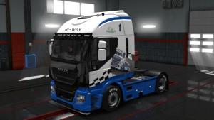 Iveco Hi-Way Blue Racing paintjob mod