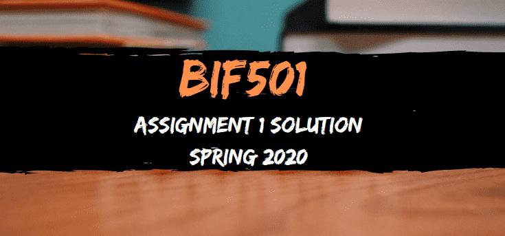 BIF501