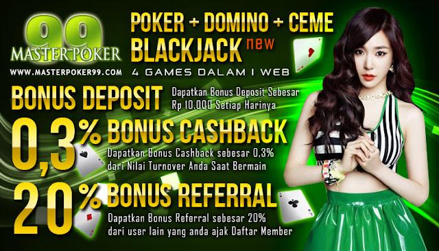 Masterpoker99.com Agen judi Ceme BlackJack Agen Poker Domino QQ Online