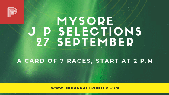 Mysore Jackpot Selections 27 September
