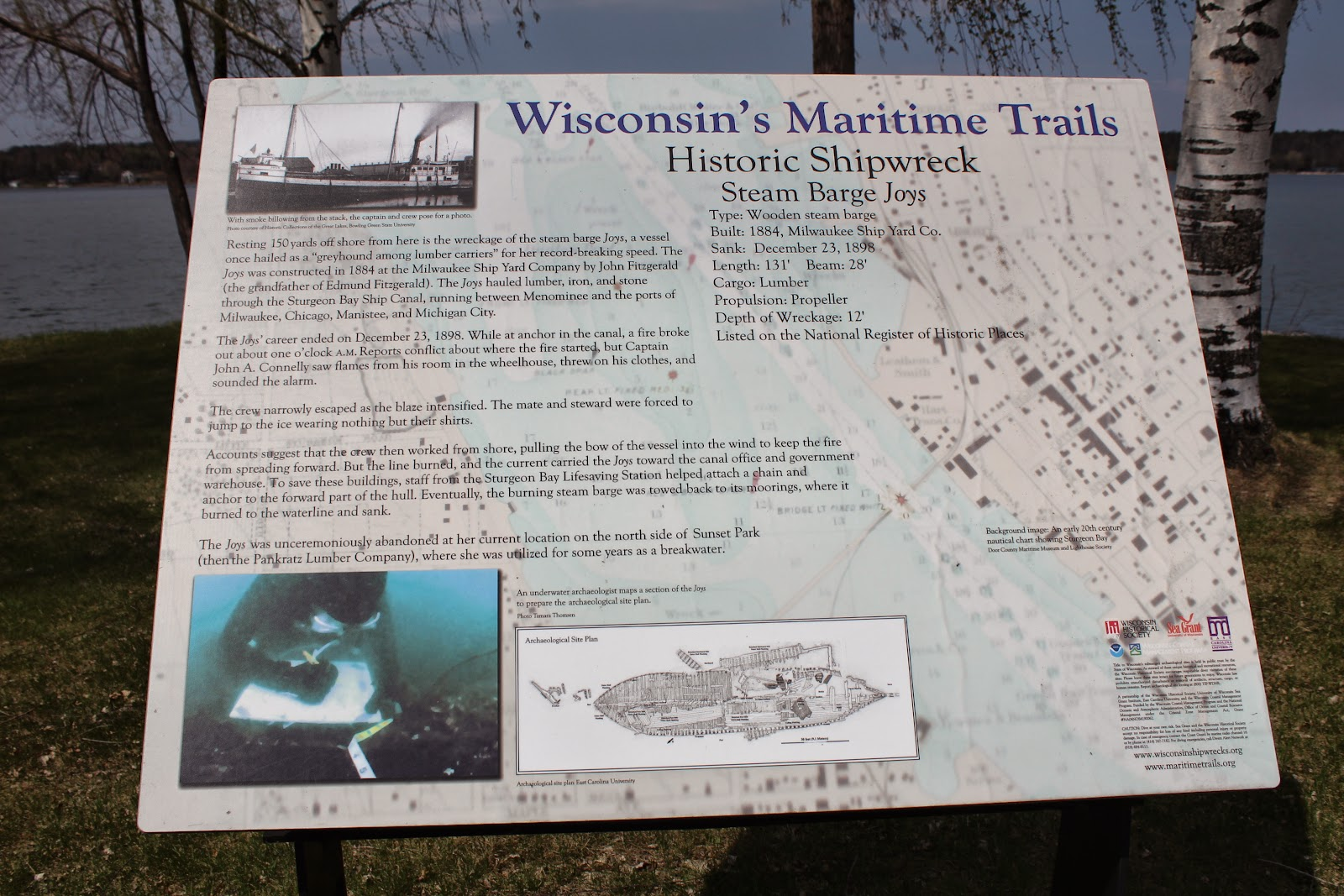Wisconsin Historical Markers: Wisconsin's Maritime Trails: Historic