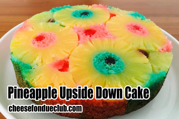 パイナップル・アップサイドダウンケーキのレシピ