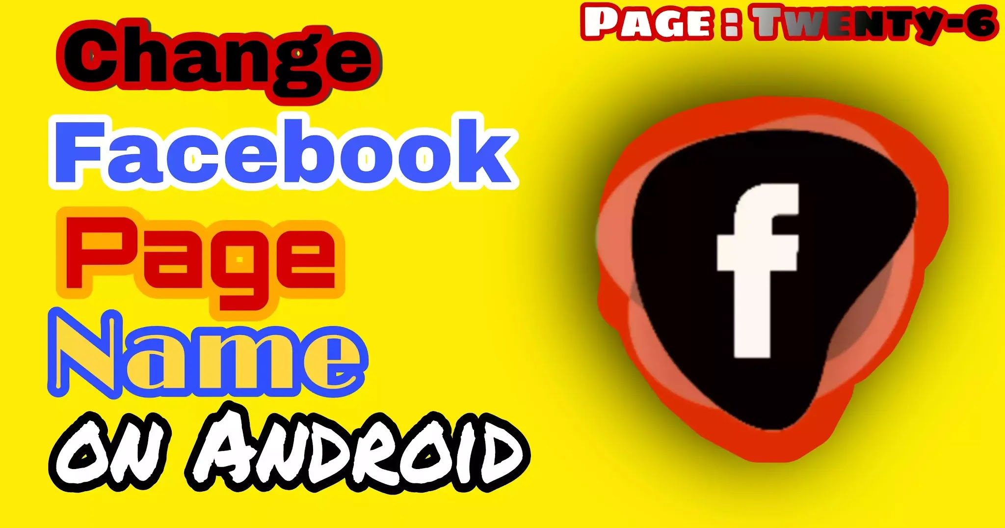 How to Change Facebook Page Name on Android Mobile