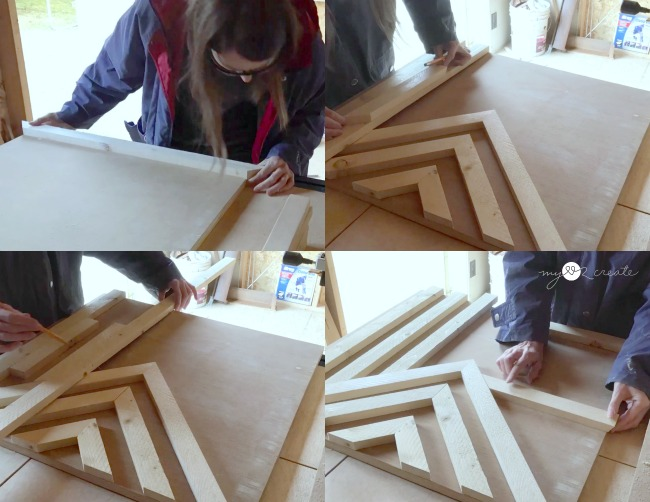 Creating a wooden wall art design