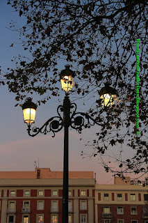 Lamppost, Temple of Debod, Madrid, Spain