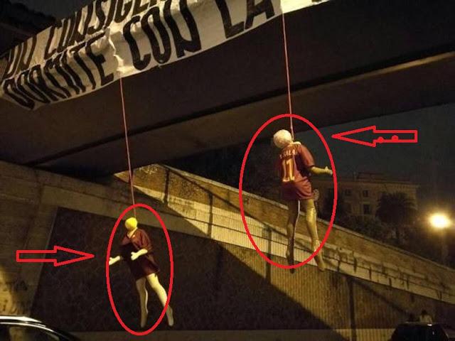 النجم محمد صلاح يتلقى تهديدات بالقتل فى روما وجدوا الدمى معلقة ومكتوب عليها بالإيطالي (نم والأنوار مضاءة ) شاهدوا السبب ومن فعل ذلك