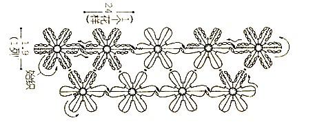безотрывное вязание цветочков