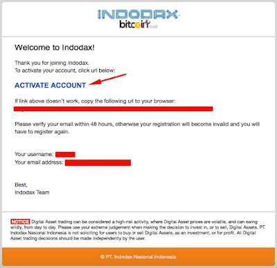 buka email dan klik aktifasi akun indodax