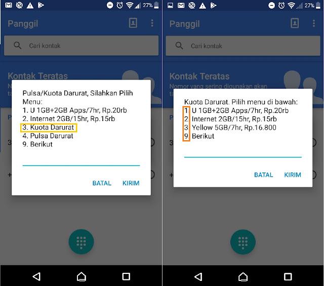 cara meminjam hutang paket internet indosat
