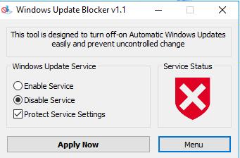 blokir akses update windows 10