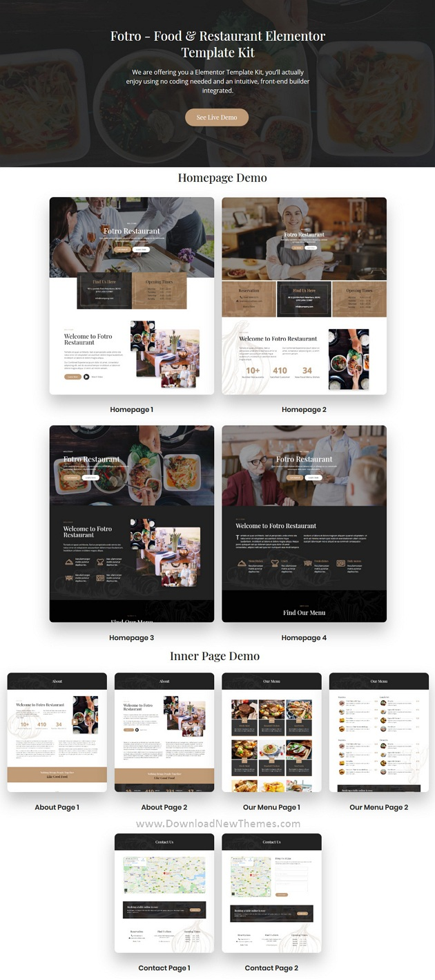 Food & Restaurant Elementor Template