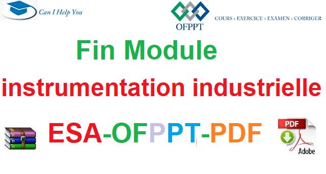 Examens De Fin Module Instrumentation Industrielle Électromécanique des Systèmes Automatisées-ESA-OFPPT-PDF