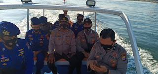 Amankan Kampanye di Pulau Langkai, Polres Pelabuhan Berikan Imbauan Prokes