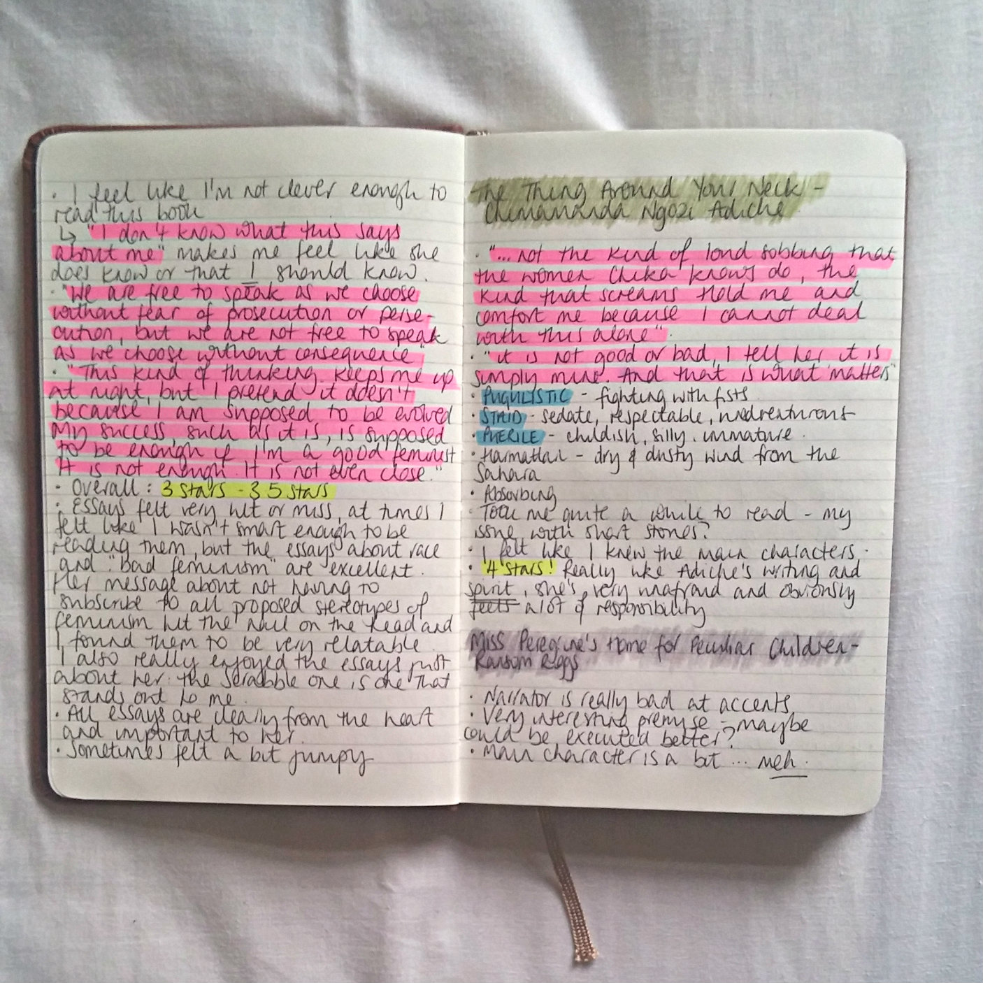 How to Keep a Book Journal photo