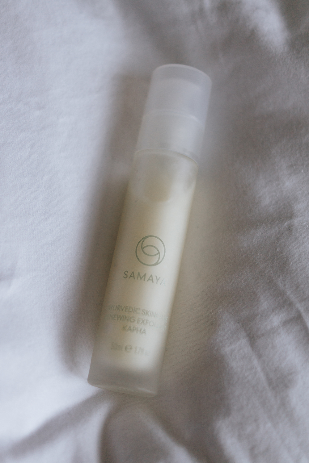updated-skincare-routine-barely-there-beauty-blog-samaya-exfoliant-review