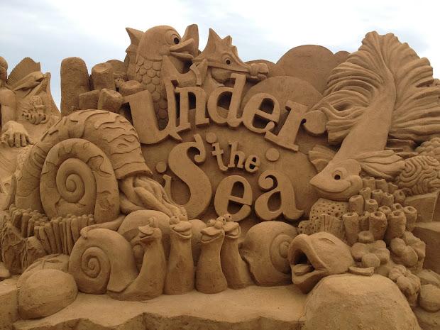 """Working Sand Sculptures """"under Sea"""""""