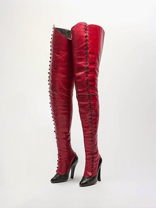 vintage fetish boots maniatis metropolitan museum ny