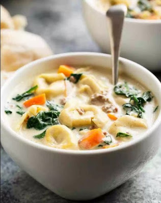CROCK POT TORTELLINI SPINACH SOUP