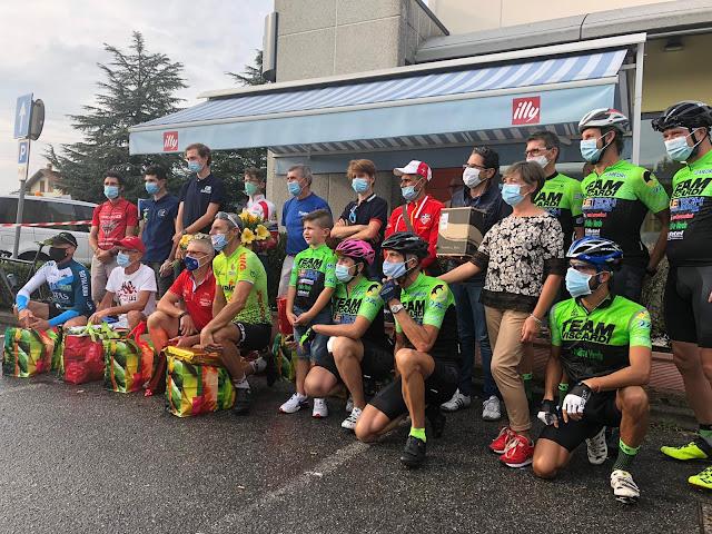 Podium tras la carrera de Almenno San Salvatore - Roncola (BG) 2020