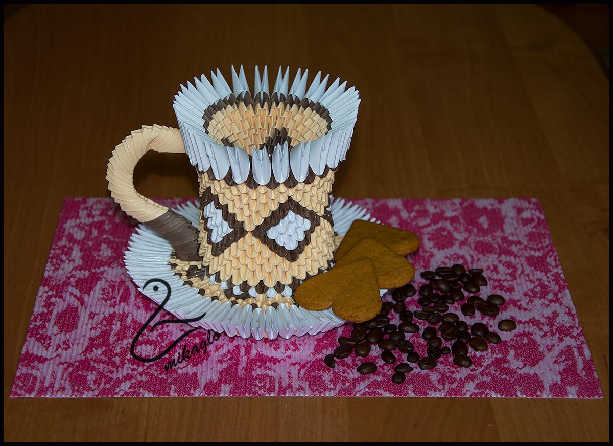 Origami 3d - mikaglo: 101. Filiżanka z origami / Coffee ... - photo#12