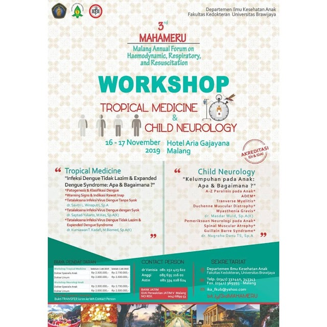 *3rd MAHAMERU* *Malang Annual Forum* on *Hemodynamic , Respiratory *& *Resuscitation)* 16-17 November 2019 Malang, Jawa Timur
