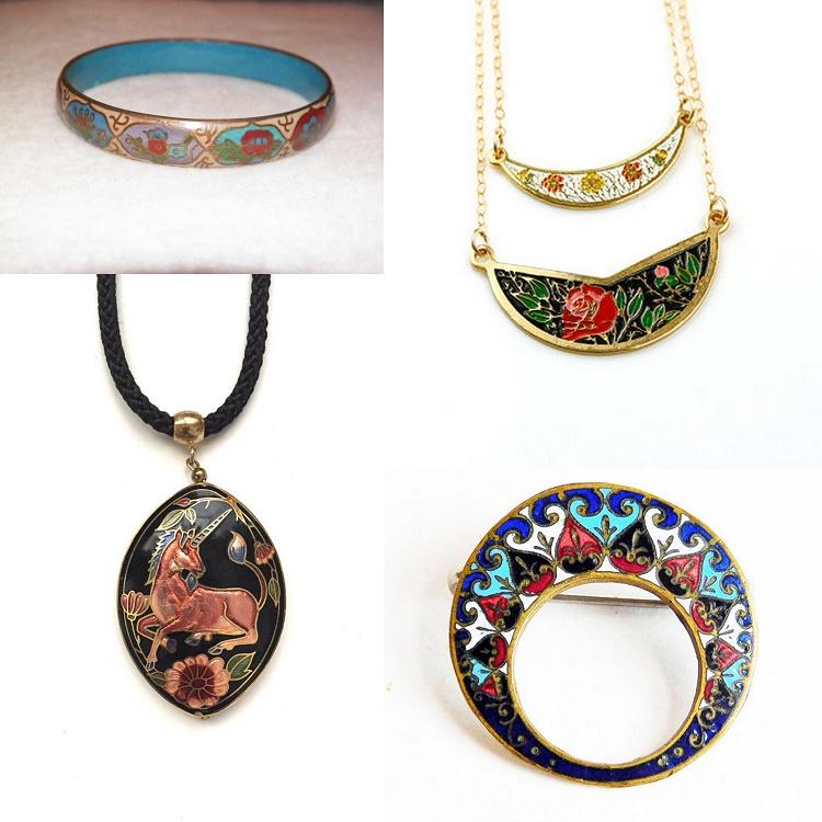 Vintage Cloisonne Jewelry