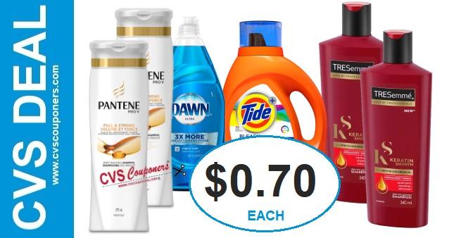 Tresemme, Pantene, Tide CVS Deal $0.70 10-27-11-2