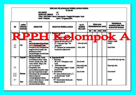 Gratis Download RPPH Kelas A Semester 1 dan 2