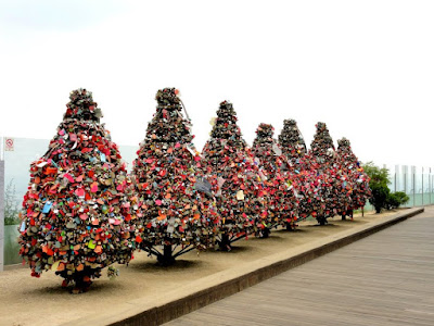Love padlocks at Namsan Seoul Tower South Korea